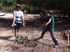 Yaniv Fieldust and Ido Aviani - first tree @ The Giving Forest