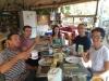 Volunteer breakfast at The Solar Garden