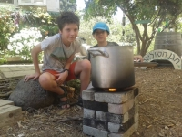The Solar Garden rocket stove workshop